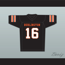 Tony Romo 16 Burlington High School Black Football Jersey
