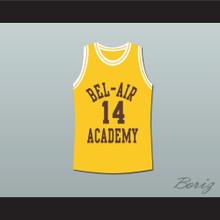 The Fresh Prince of Bel-Air Will Smith Bel-Air Academy Yellow Basketball Jersey