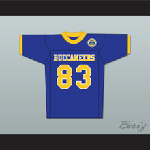 Michael Jordan 83 Laney High School  Buccaneers Blue Football Jersey with Patch 2