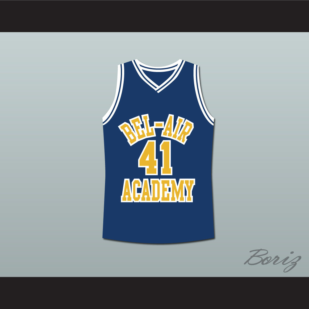 ae20c805427e The Fresh Prince of Bel-Air Will Smith Bel-Air Academy Basketball Jersey