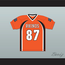 Hingle McCringleberry 87 Rhinos Football Jersey with Patches Key & Peele
