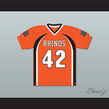 Equine Duckings 42 Rhinos Football Jersey with Patches Key & Peele