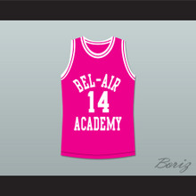 The Fresh Prince of Bel-Air Will Smith Bel-Air Academy Pink Basketball Jersey