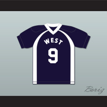 East/West College Bowl Dan Smith 9 West Football Jersey Key & Peele