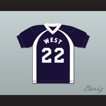 East/West College Bowl The Player Formerly Known as Mousecop 22 West Football Jersey Key & Peele