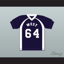 East/West College Bowl T.J. A.J. R.J. Backslashinfourth V 64 West Football Jersey Key & Peele