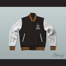 Pablo Escobar I Feel Like Pablo Black/White/Orange Varsity Letterman Jacket-Style Sweatshirt