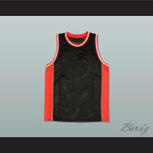 Plain Basketball Jersey Black-Red-White