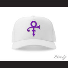 Prince Symbol White/Purple Baseball Hat