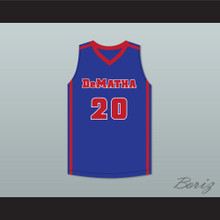 Markelle Fultz 20 DeMatha Stags Blue Basketball Jersey