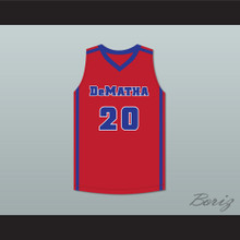 Markelle Fultz 20 DeMatha Stags Red Basketball Jersey