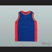 Plain Basketball Jersey Blue-Red-Yellow