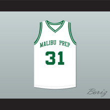 Marcus Stokes 31 Malibu Prep Pelicans Away Basketball Jersey