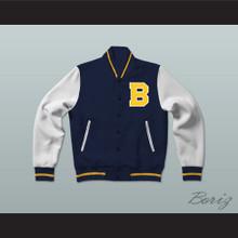 Bel-Air Academy Blue Varsity Letterman Jacket-Style Sweatshirt