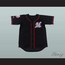 Chiba Lotte Marines Black Baseball Jersey with Patch