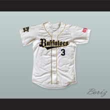 Lee S.Y. 3 Orix Buffaloes Baseball Jersey with Patches