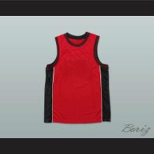 Plain Basketball Jersey Red-Black-White