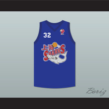 Jimmer Fredette 32 Shanghai Sharks Blue Basketball Jersey with CBA Patch
