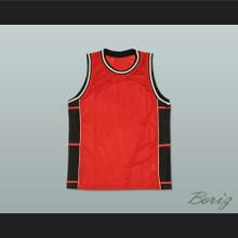 Plain Basketball Jersey Red-Black-White New