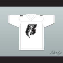 Drag-On Rough Ryders 88 White Football Jersey