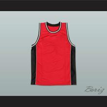 Plain Basketball Jersey Red-Black-White Stitch Sewn