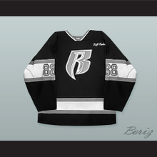 Rough Ryders 88 Black Hockey Jersey
