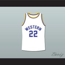 Anfernee Hardaway Butch McRae Western University White Basketball Jersey Blue Chips Movie
