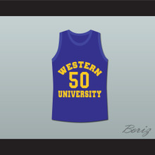 Shaq Neon Boudeaux Western University Blue Basketball Jersey Blue Chips Movie