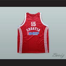 Dario Saric 15 Croatia Basketball Jersey