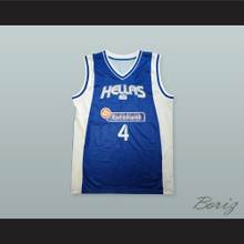 Theodoros Papaloukas 4 Greece Blue Basketball Jersey