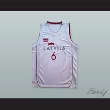 Kristaps Porzingis 6 Latvija White Basketball Jersey