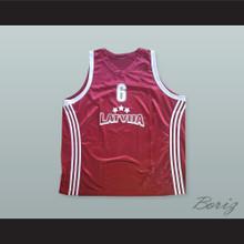 Kristaps Porzingis 6 Latvija Maroon Basketball Jersey