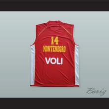 Nikola Pekovic 14 Montenegro Basketball Jersey