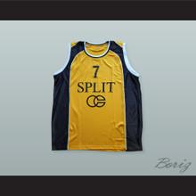 Toni Kukoc 7 KK Split Jugoplastika Basketball Jersey
