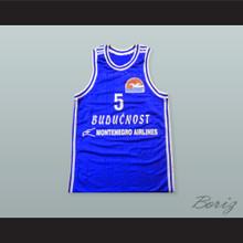 Gavrilo Pajovic 5 KK Buducnost Podgorica Basketball Jersey with Patch