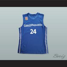 Jan Vesely 24 Czech Republic Basketball Jersey with Patch