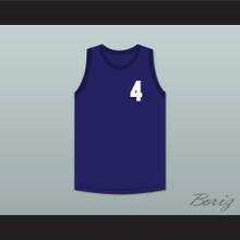 John Hogan 4 Blue Basketball Jersey Streetballers