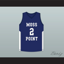 Devin Booker 2 Moss Point High School Blue Basketball Jersey