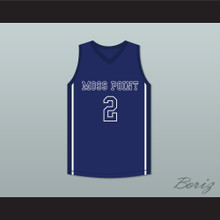 Devin Booker 2 Moss Point High School Tigers Blue Basketball Jersey 2