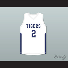 Devin Booker 2 Moss Point High School Tigers White Basketball Jersey
