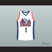 Harmon Tedesco 1 Blue Mountain State Goats Basketball Jersey Stitch Sewn