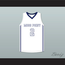Devin Booker 2 Moss Point High School White Basketball Jersey 2