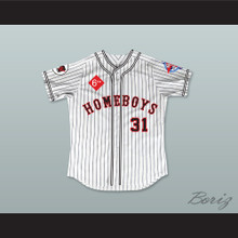 Roger Clemens 31 Homeboys Pinstriped Baseball Jersey 6th Annual Rock N' Jock Softball Challenge 1995
