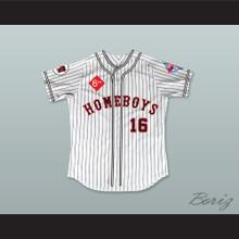 George Clooney 16 Homeboys Pinstriped Baseball Jersey 6th Annual Rock N' Jock Softball Challenge 1995