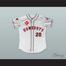 Idalis DeLeon 20 Homeboys Pinstriped Baseball Jersey 6th Annual Rock N' Jock Softball Challenge 1995