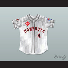 Scott Wolf 4 Homeboys Pinstriped Baseball Jersey 6th Annual Rock N' Jock Softball Challenge 1995