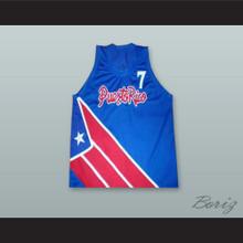 Carlos Arroyo 7 Puerto Rico Blue Basketball Jersey