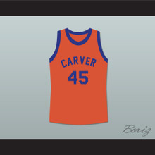 Byron Stewart Warren Coolidge 45 Carver High School Basketball Jersey