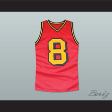 Smallville Clark Kent 8 Red Basketball Jersey Stitch Sewn