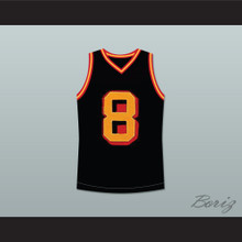 Smallville Clark Kent 8 Black Basketball Jersey